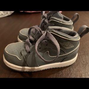 Toddler boy Nike Air Jordan's- worn once if that!